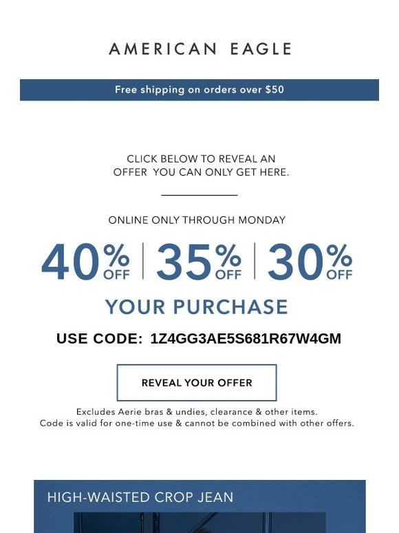c078a522243c American Eagle: A mystery offer + THE must-have jeans... | Milled