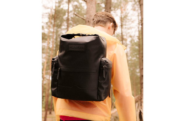 Shop Original Top Clip Backpack - Rubberised Leather: Black Now