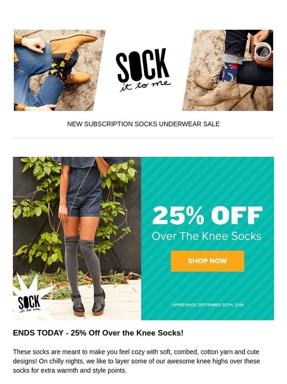 3f32b90d5b334 Sock it to Me  LAST CHANCE - Take 25% Off Over the Knee Socks!