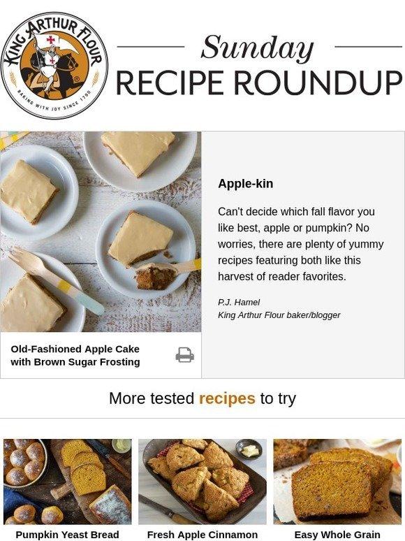 King Arthur Flour Sunday Recipe Roundup Apple Meet Pumpkin Milled