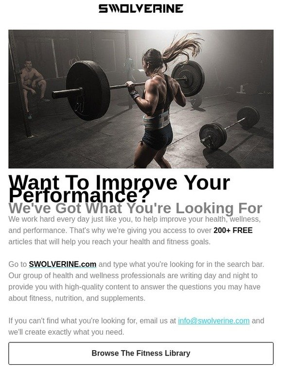SWOLVERINE: 200+ Free Ways To Improve Your Health & Training