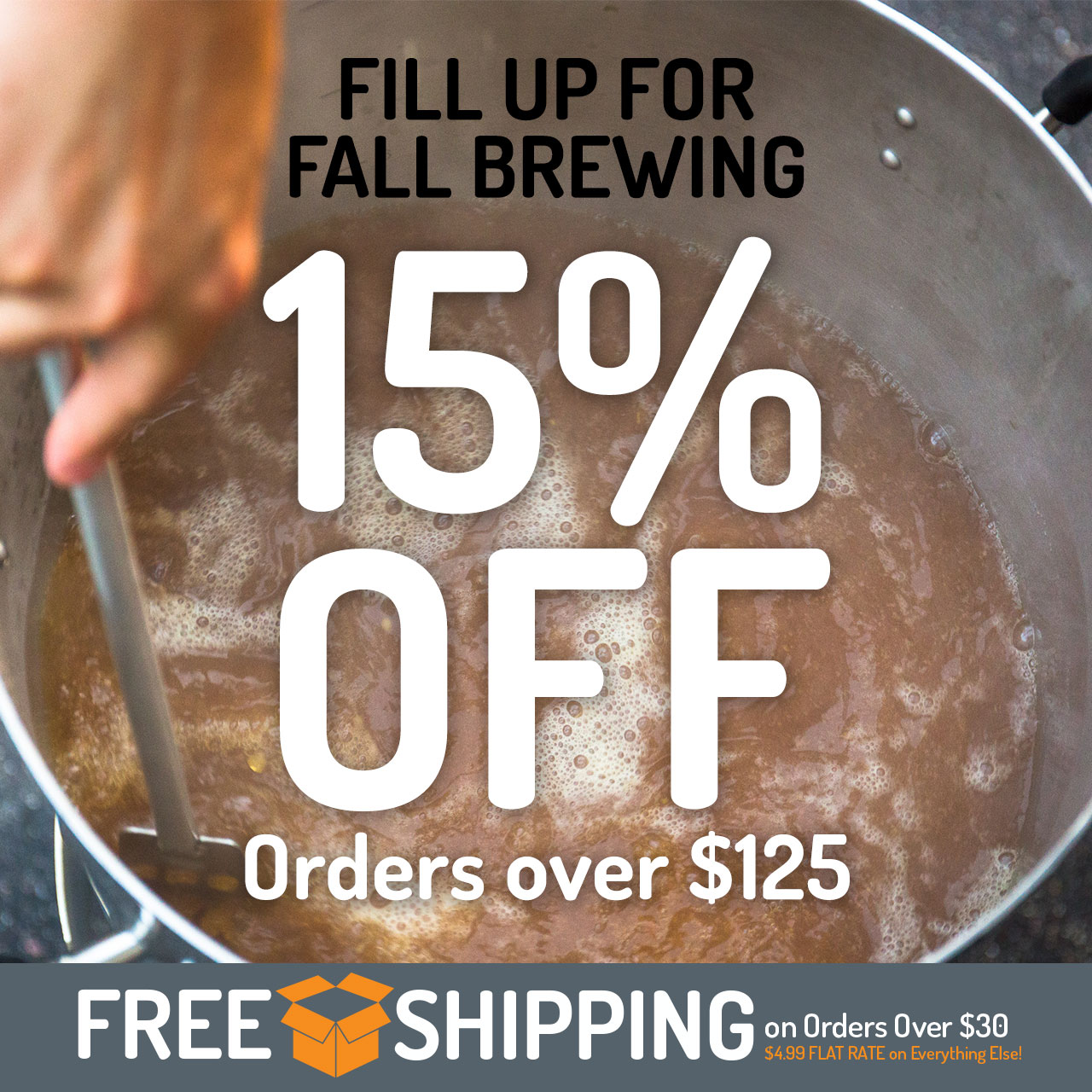 15% Off Orders Over $125 through Monday, 10/1/2018, at 11:59 pm (CST)