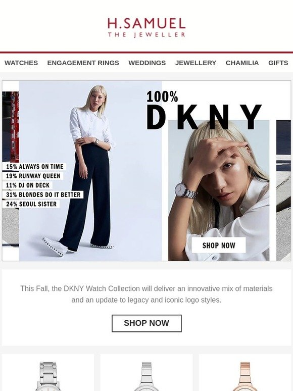 cf25a0be8a4b6 H. Samuel: Be 100% DKNY with the fall collection! | Milled