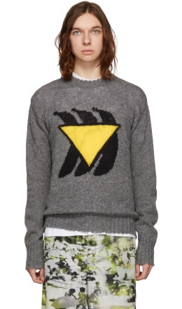 Prada - Grey Bananas Sweater