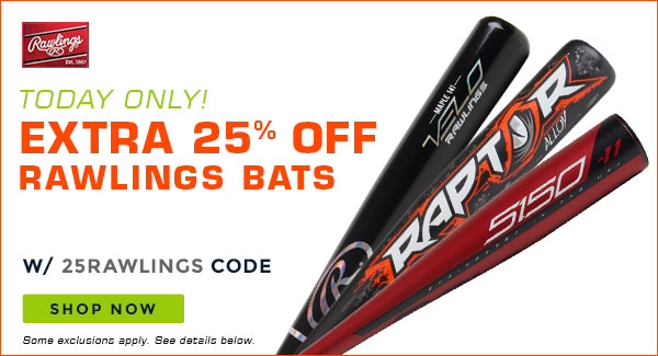 Baseball Savings: Extra 25% Off Rawlings! Today Only! | Milled