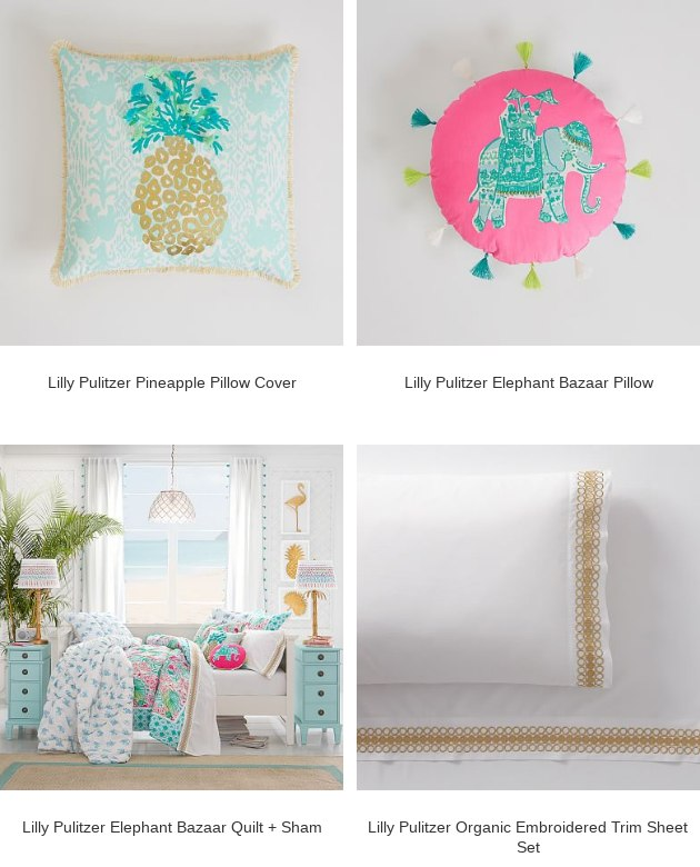 3088d00793141a PBteen: Lilly Pulitzer Organic Orchid Border Duvet Cover + Sham is ...