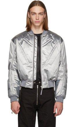 GmbH - Silver Nico Bomber Jacket