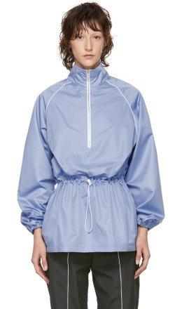 Markoo - Blue 'The Long Zip Up' Jacket