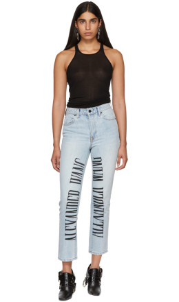 Alexander Wang - Blue Logo-Embroidered Cult Jeans