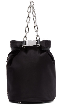 Alexander Wang - Black Satin Attica Soft Dry Bag