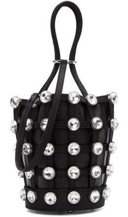 Alexander Wang - Black Mini Roxy Cage Glass Bucket Bag