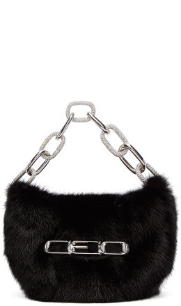 Alexander Wang - Black Fur Micro Mini CEO Bag