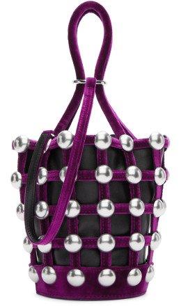 Alexander Wang - Black & Pink Mini Roxy Cage Bucket Bag