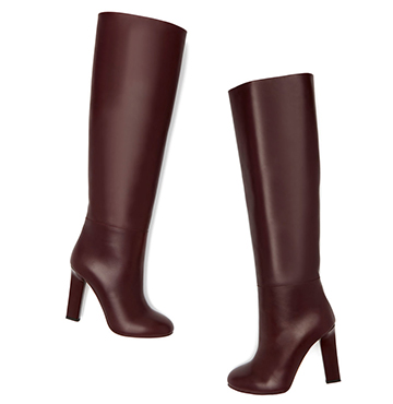 Victoria Beckham Rise Knee-High Leather Boots $1,715