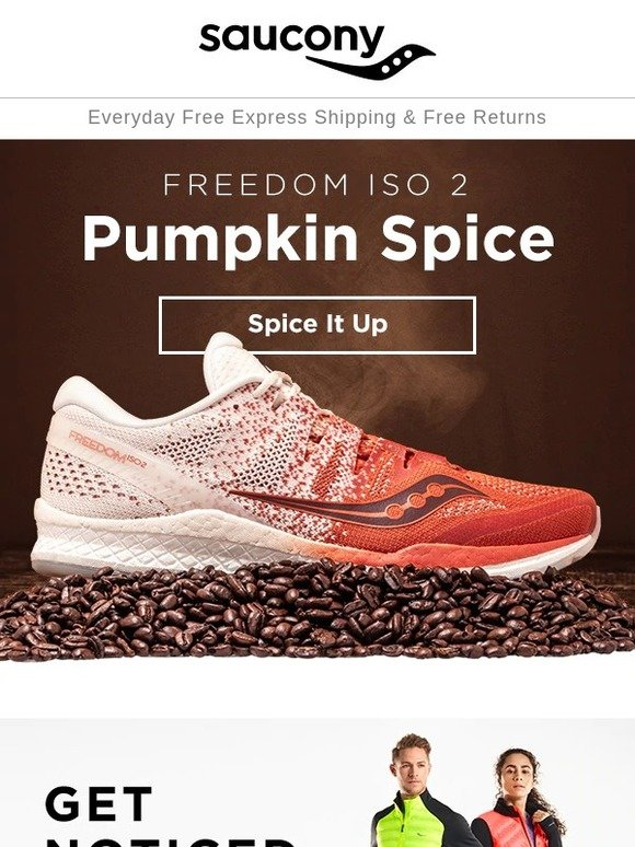 saucony freedom iso 2 pumpkin spice