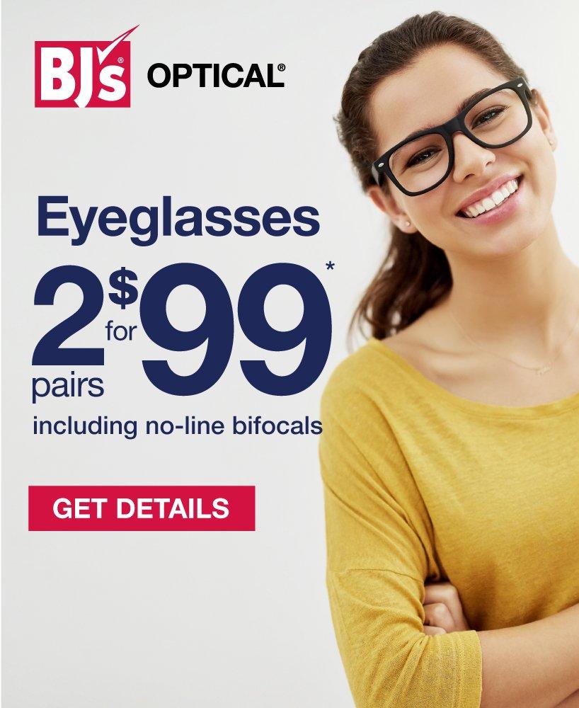BJs Wholesale Club: Eyeglasses: 2 pairs for $99 | Milled