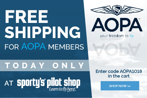 Sporty's Pilot Shop: Free Shipping to AOPA Members TODAY