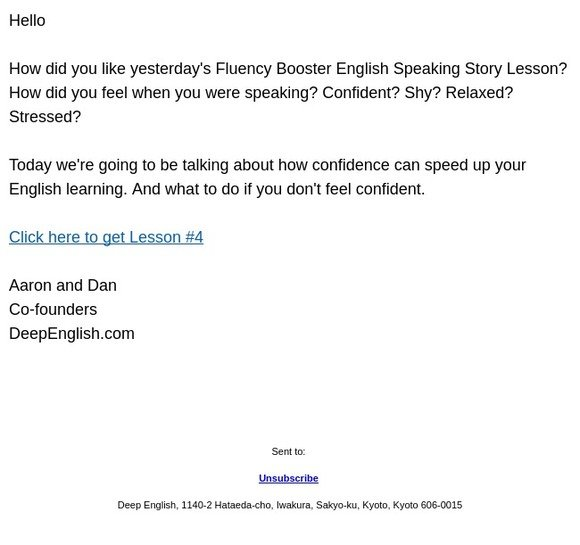 True Stories English Fluency Course: [Lesson #4] Fake It