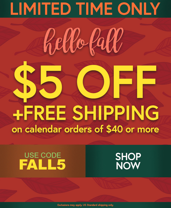 Calendars com: $5 Off and Free Shipping   Starts NOW! | Milled