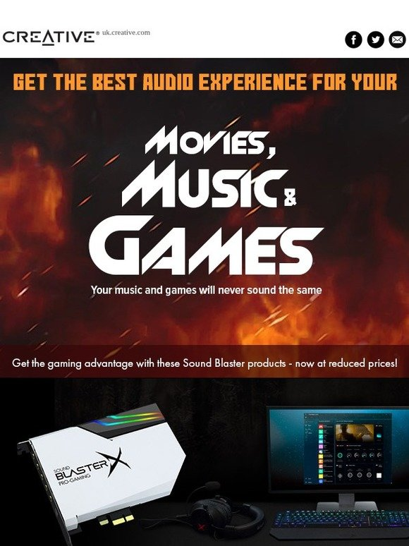 Creative: Get your best audio experience with Sound Blaster