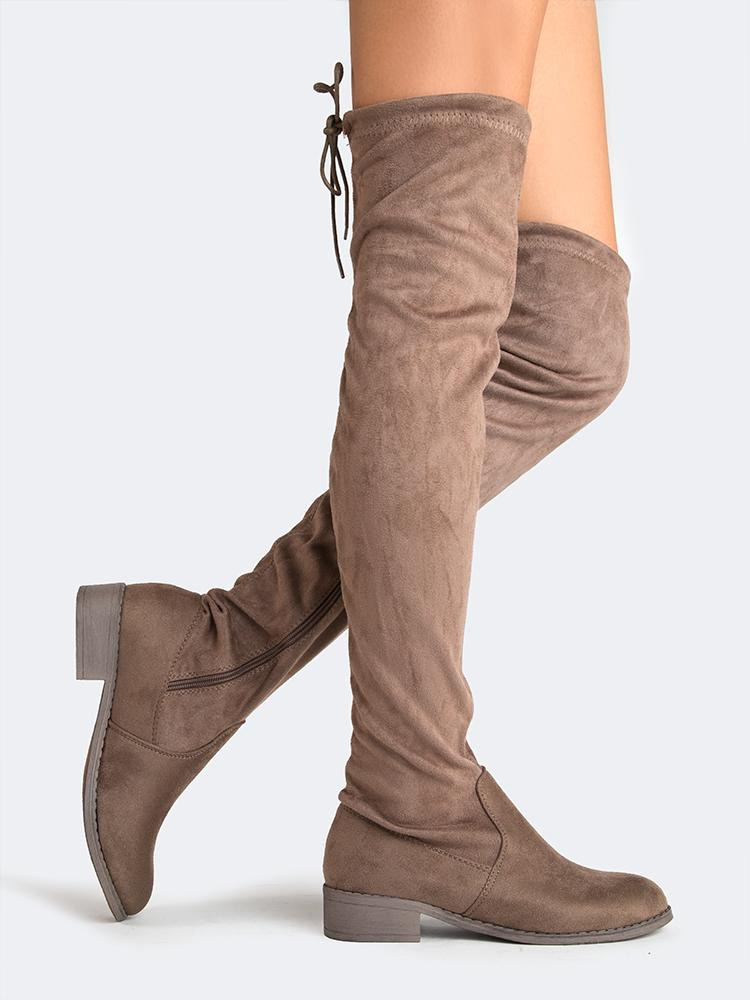 Image of Low Heel Thigh High Boot