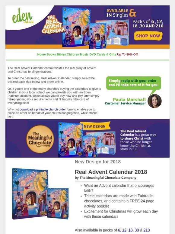Eden The Real Advent Calendar The Fairtrade Charity