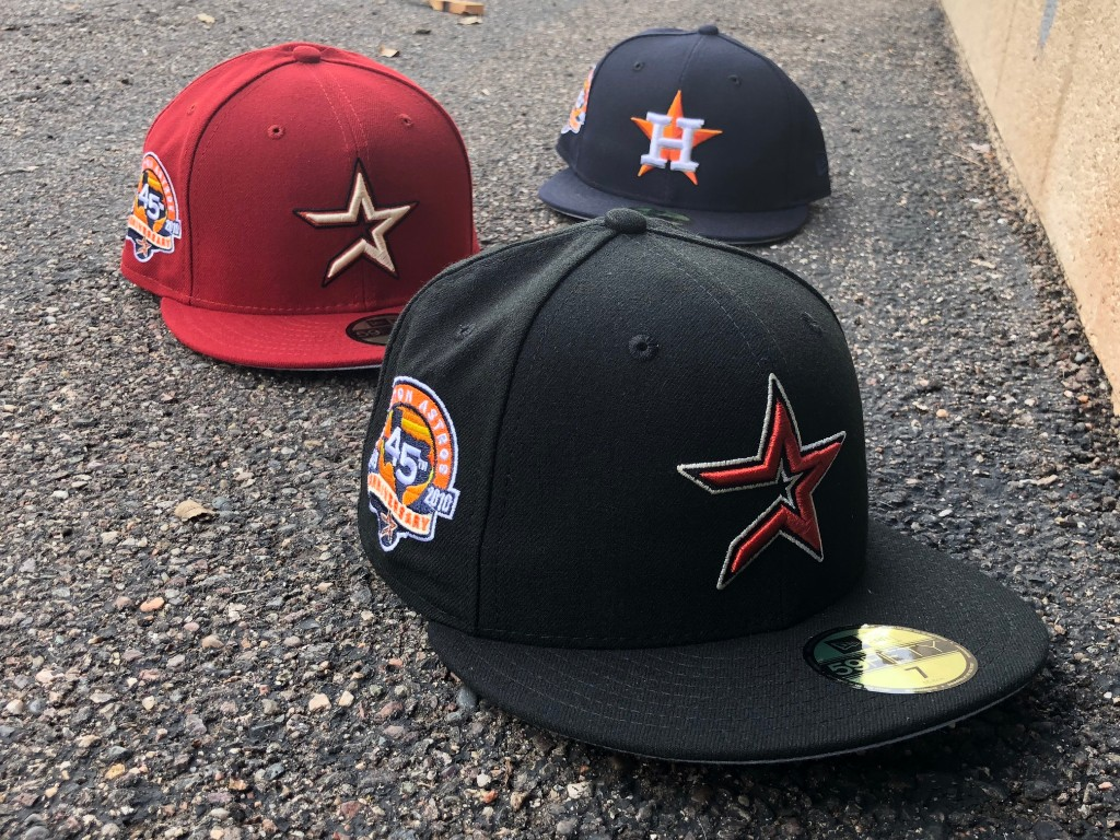 6a0f8ac42f0 Todays featured Hat Club Exclusive release is the 45th Anniversary Astros  Patch collection. The Colt .45s changed their name in 1965 and became the  Astros.