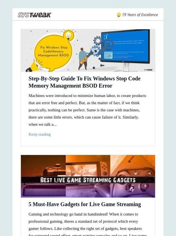 windows blue screen error code memory management