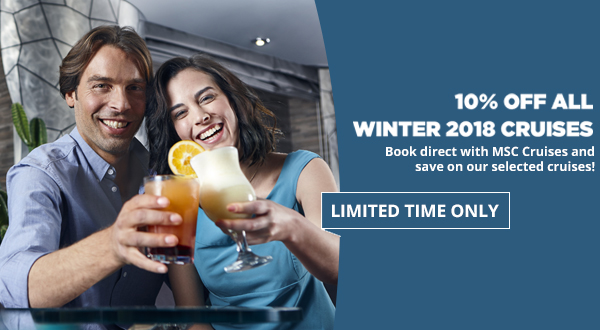 MSC Cruises UK: Don't forget your exclusive 10% DISCOUNT E