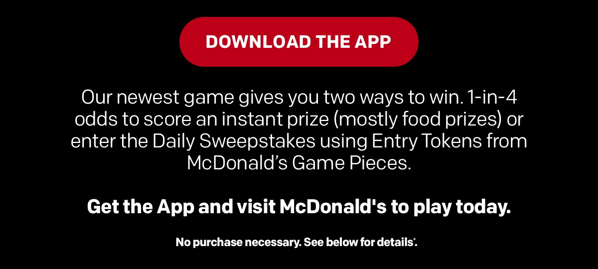 Instant win free game download mcdonalds
