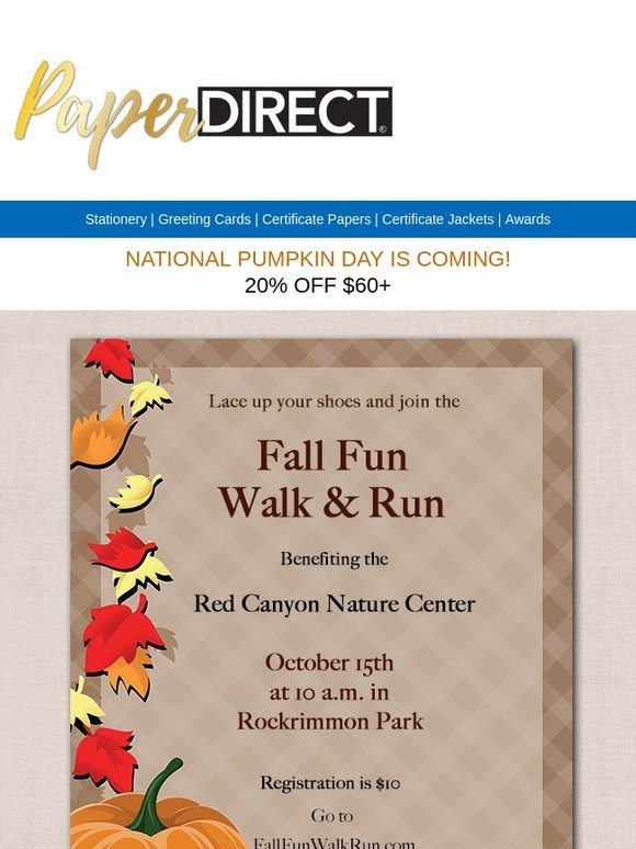 Paper Direct Dont Miss Out Pumpkin Sized Savings Milled