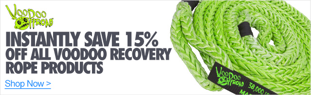 Instantly Save 15% off all VooDoo Recovery rope products