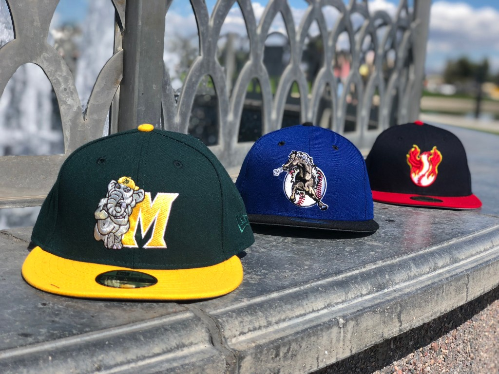 169d0e839b4 Today s featured Hat Club Exclusive release is the MiLB 90s collection.  Today we feature 3 different 2tone caps from the Modesto A s