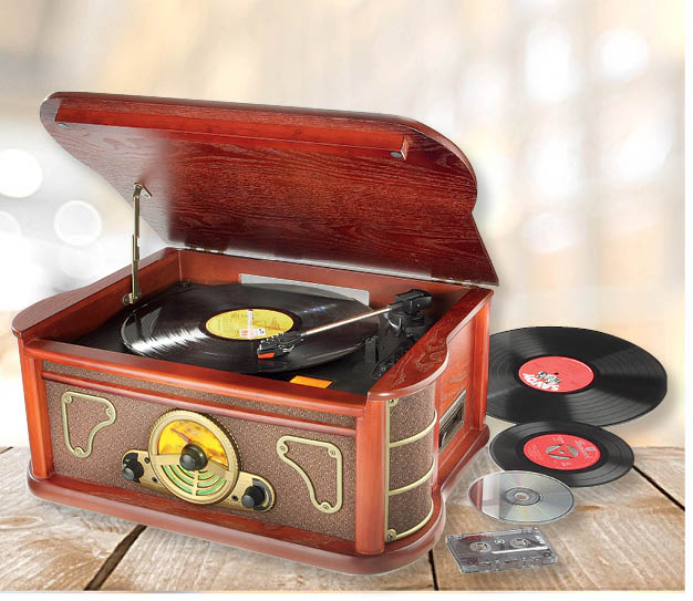 Nostalgic Wooden Music Centre  with Encoding - £199.95