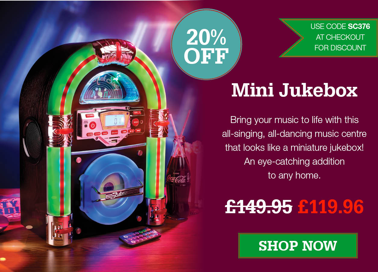 Mini Jukebox - Save 20% Was £149.95 Now £119.95