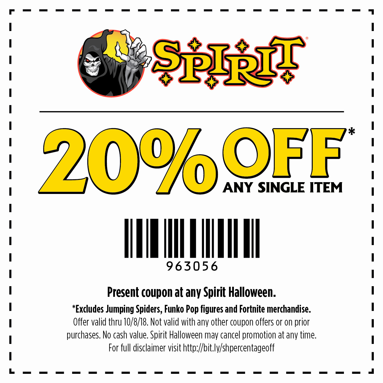 spirit halloween: take $50 | dare to be different | milled