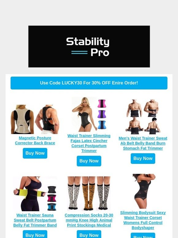 85840dfa7d4 StabilityPro  24 Hour Sale! 30% OFF All Products! Promo Code Inside ...