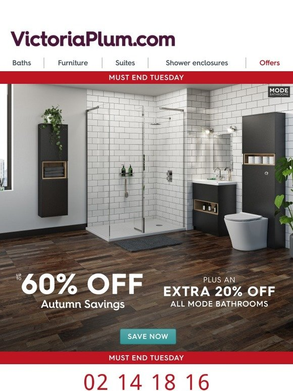 Victoria Plumb: Your 20% Off Mode Bathrooms Ends Tuesday | Milled