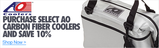 Purchase select AO Carbon Fiber Coolers and save 10%