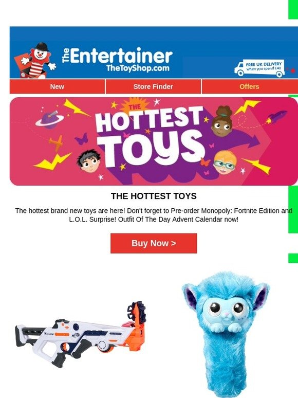 The Entertainer The Hottest Toys Available Now Milled
