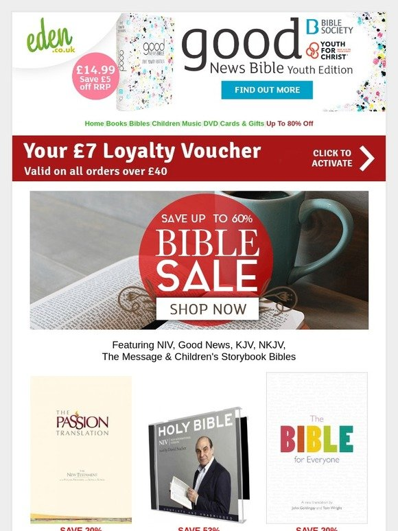 Eden: Bible Sale - Save up to 60% | FREE and Fast Delivery