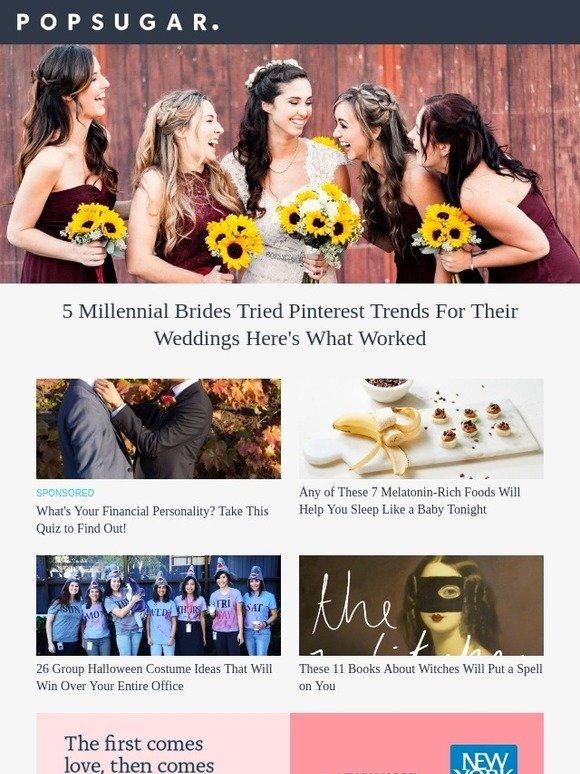 popsugar must have: 5 Millennial Brides Tried Pinterest Trends For