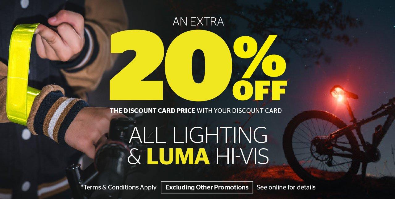 20% Off All Lighting & Luma Hi-Vis