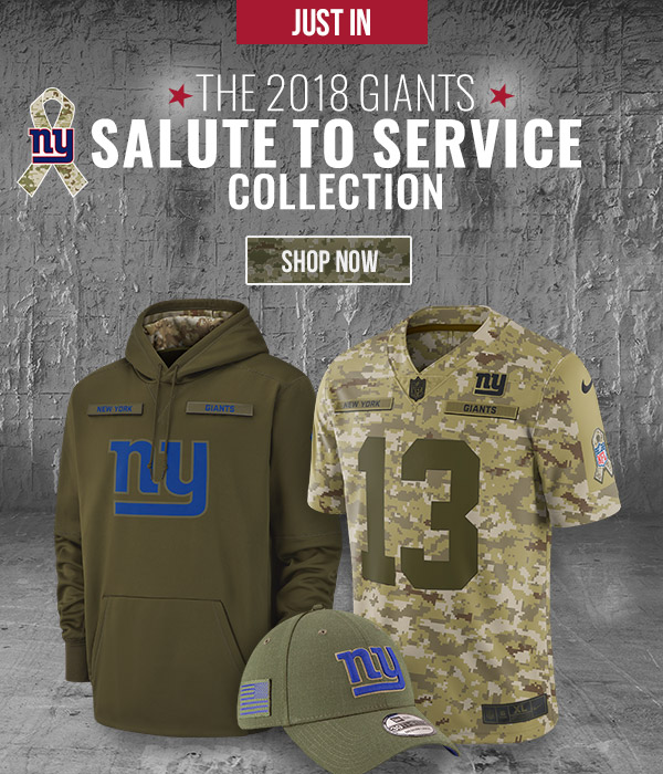newest efb5c 5f676 NY Giants Fan Shop: NEW: The 2018 Salute To Service ...