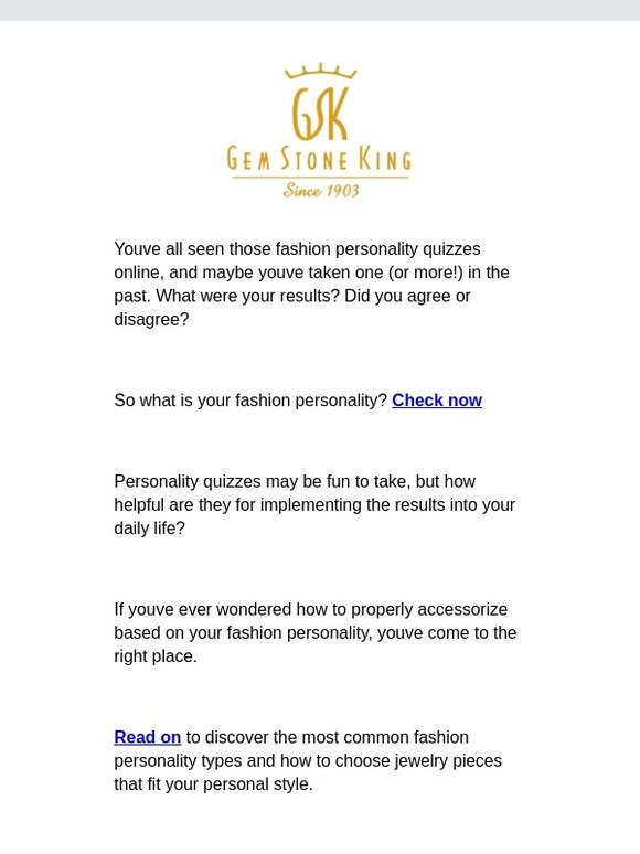 Gem Stone King: What your jewelry says about your fashion