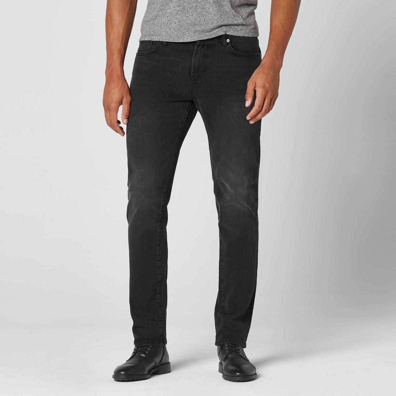 Skinny-Slim Jeans in Black Worn