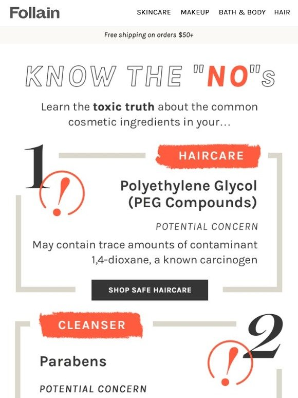 Follain: 5 dirty ingredients you should know about | Milled