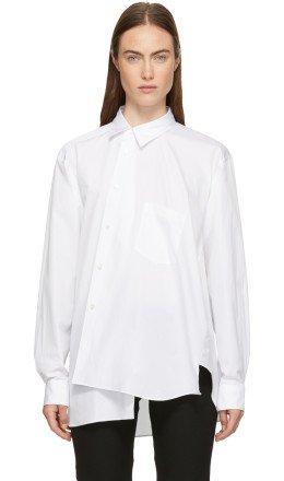 Comme des Garons Homme Plus - White Asymmetrical Shirt