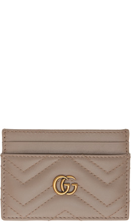 Gucci - Taupe GG Marmont 2.0 Card Holder