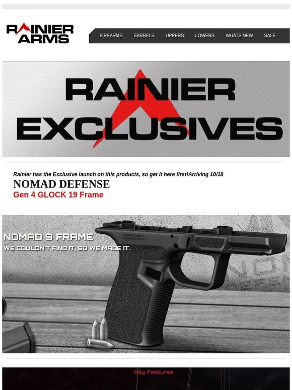 Rainier Arms: Hot Exclusive launch on the Nomad Defense 9